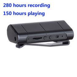 280 часов записи открытый Профессиональный диктофон с магнитным Всосать Clip