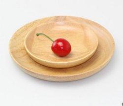Madera de haya de la placa de postre las tuercas de disco de semillas de melón de la bandeja de madera redonda