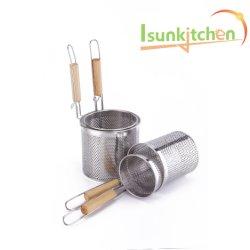 Harina de arroz con fideos colador de malla del filtro de fugas de calor a través de boca cazo cuchara de cocina de acero inoxidable colador ranurada grande