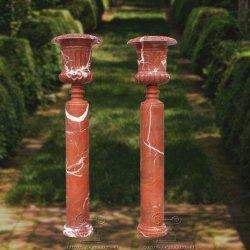 Стороны резного сад; мраморным сеялка Flower Pot, Urn