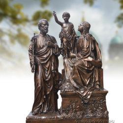 Бронзовый религиозных оформление Святого Семейства статуя скульптура