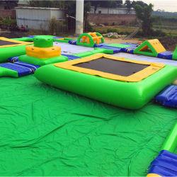Giocattolo su ordinazione gigante Waterpark combinato gonfiabile con il gioco dell'acqua (PL-007)