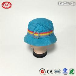 Coton bleu mignon Fashion femmes Soft Summer Hat avec fleur