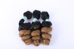 輝やきの絹の毛の総合的で緩い波の毛黒人女性の毛の拡張のための18-22インチ3 PCS/Packの束