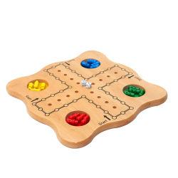 Tabla de madera natural de ajedrez volando Juguetes de madera juego de la familia de la educación para adultos y niños