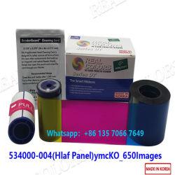 Datacard SD260 SD360 SD460 카드 인쇄 기계를 위한 호환성 534000-004의 Ymckt 절반 위원회 650 심상 색깔 리본