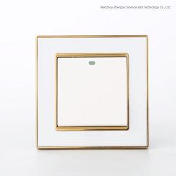 Conception simple de gros de l'un interrupteur mural Golden Ouvert acrylique