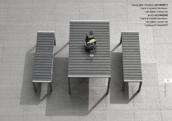 Loisirs en aluminium antivieillissement Polywood multifonction Table et chaise de salle à manger extérieure de jardin meubles de patio banc