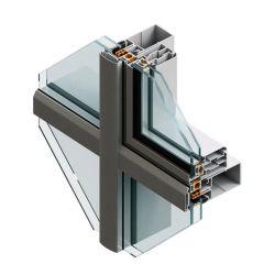 Construction en alliage en aluminium extrudé mur rideau Système unifié de façade
