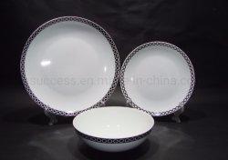 Il padellame di ceramica bianco normale del piatto della porcellana di figura del coupé dei commerci all'ingrosso ha impostato dal fornitore della Cina