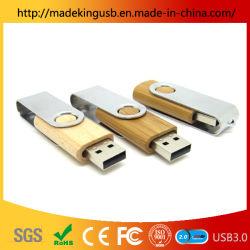 핫! 스위블 목재 + 메탈 USB 플래시 드라이브 USB 메모리 디스크