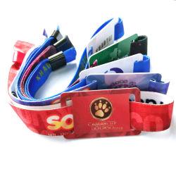 Barato preço pulseiras de tecido Gold /Silver Bracelete Tecidos de rosca