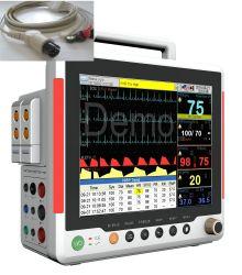 Ecgempresure/SpO2/Etco2/pr/hr/moniteur de diagnostic d'un REEE pour l'hôpital/LCD multi-paramètres du moniteur patient