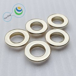 12.5mm helle Goldlegierungs-Metallöse für Schuh-/Kleidungs-Beutel (YF346-19)