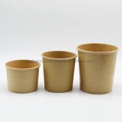 De milieuvriendelijke Biologisch afbreekbare Verpakking van het Document van de Verpakking van het Voedsel Kraftpapier voor de Container van de Soep