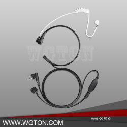 Auriculares con micrófono de garganta tubo de aire encubierta auricular