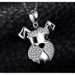 925 de echte Zilveren HoofdTegenhangers van de Schedel van de Tegenhangers van de Charme van de Juwelen van CZ van de Tegenhangers van de Schedel van Tegenhangers Neutrale