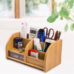 Le tout dans un bureau en bois avec tiroir de l'organiseur couleur bambou (BC2031)