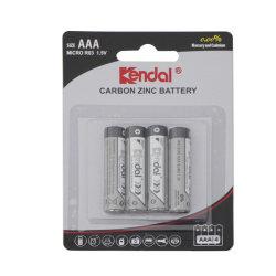 Pacchetto della scheda della bolla della batteria 2PCS del carbonio della batteria R03p 1.5V del AAA