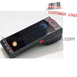 1d Scanner de código de barras 2D o Android PDA com etiqueta térmica Impressora de bilhetes de estacionamento
