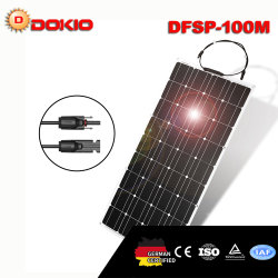Alta eficiência constituídos 100W flexível Painel Solar para barcos e aluguer