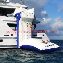 Água flutuantes infláveis para parede de escalada em rocha Yacht