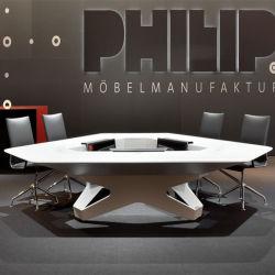 حديثة أنيق تكنولوجيا محترفة مكتب طاولة صلبة سطحيّة مثلث [كنفرنس تبل]