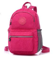 Neue Designer-Tasche Mit Doppeltem Schultertasche Aus Reinem Farbdesign Und Wasserdichtem Nylon-Material Schul-Rucksack (1) Zh-Bbk101