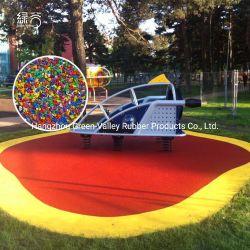Los gránulos de color EPDM pavimentos de goma de caucho EPDM húmedo verter materiales granulados con mejor precio