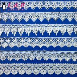 Diverses conceptions de la broderie Blanc 100 % polyester dentelle Guipure chimique