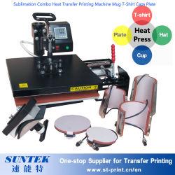Sublimation-bedeckt kombiniertes Wärmeübertragung-Drucken-Maschinen-Becher-T-Shirt Platte mit einer Kappe