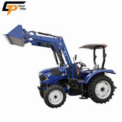 Tractor van het Landbouwbedrijf van de Tuin van de Fabrikant van de Landbouwmachines van China de 60HP 4X4 Kleine Compacte Mini met van de Lader en Backhoe van het VoorEind de Prijs van de Gehechtheid voor Landbouw