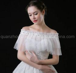 Custom Hot Sale Mode Organza Hochzeit Brautbride Shawl