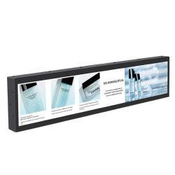 رف بحجم 19.5 بوصة بحجم 27.9 بوصة استخدم شاشة عرض LCD ذات سطوع عالٍ مشغل إعلان HD من نوع القضيب الممدّد