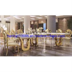 Parti de gros événement pendentif cristal Meubles Décoration de mariage d'or en acier inoxydable Table à manger