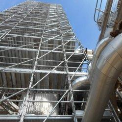Горячий оцинкованные стальные рамы лестницы сооружением промышленного основы