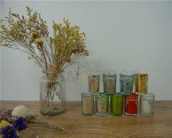 Candele di vetro di giorno della madre della tazza con l'insieme della corrispondenza