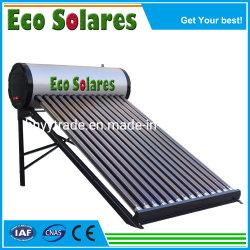 Non pression chauffe-eau solaire tuyaux Geyser solaire solaire solaire des tubes à vide du système solaire projet SOLAIRE panneau solaire