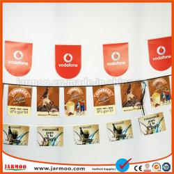 Conception sans forme personnalisée PVC Bunting Drapeau pour la publicité de l'événement