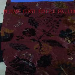 Rayón de nylon quemar el tejido de terciopelo de impresión