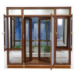 Portelli di alluminio di vetro Tempered ed effetto Windows di uragano di Windows della stoffa per tendine di Windows con lo schermo d'acciaio