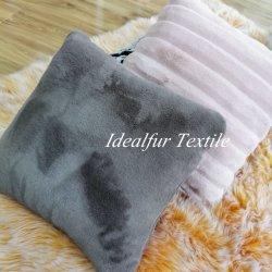 Caso decorativo del cuscino di manovella della pelliccia del coniglio del Faux del coperchio del cuscino della pelliccia per il sofà