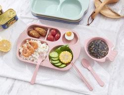 Non-Slip Grau Alimentício Portable crianças servindo comida na bandeja do contêiner