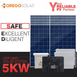5kw Moregosolar hors réseau du système solaire maison complète du système d'énergie solaire 3000W 5000W Kit de panneau solaire