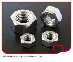 스테인리스 육 헤드 견과 DIN934, DIN557, DIN982 DIN985 DIN439 DIN1587 DIN6923 의 무거운 견과