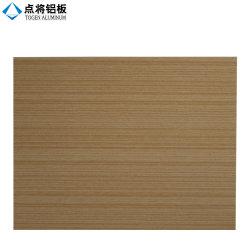 Painel de alumínio da fachada da grão de madeira decorativa para o revestimento da parede de cortina