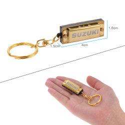 De mini Harp Keychains van de Blauw van de Harmonika/Zeer belangrijke Houder/Ring