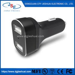 Индикатор 4.8A 2 порта двойного назначения USB разъем адаптера автомобильное зарядное устройство для iPhone Samsung HTC