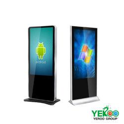 55-дюймовый сенсорный экран ЖК-дисплей напольная стойка Интернет рекламы и торгового центра