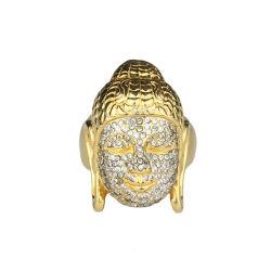 24K plaqué or Bijoux de moulage de Bouddha anneau pour homme